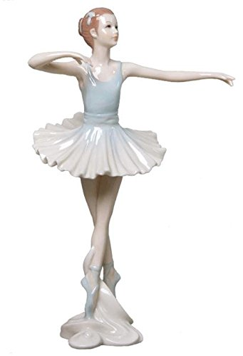 US 22,1 cm Porzellanfigur Graceful Ballerina En Pointe Blue Tutu