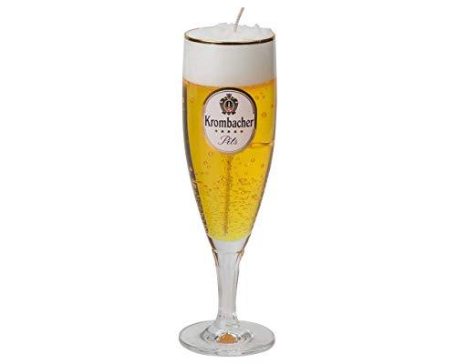 Krombacher Bier Exklusiv - Pokal Kerze 0,2 Liter. Kerze im Originalglas von Krombacher. Glas nach Reinigung als Pilsglas benutzbar. Sieht täuschend echt aus.
