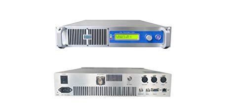 FM Transmitter for Church, School, Community, City, YXHT 1000W 87.5-108MHz Digital LCD Wireless Stereo Broadcast Radio Station 19Inches 2U Whole Aluminum Case Silver