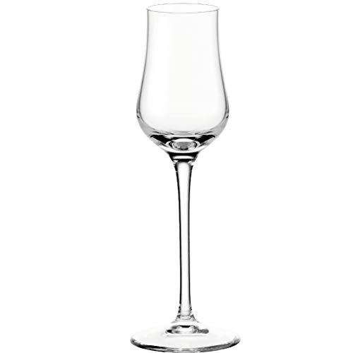 Leonardo Ciao+ Grappa-Glas, Schnaps-Glas mit gezogenem Stiel, spülmaschinenfeste Digestif-Gläser, 6er Set, 8,5 cl, 061452