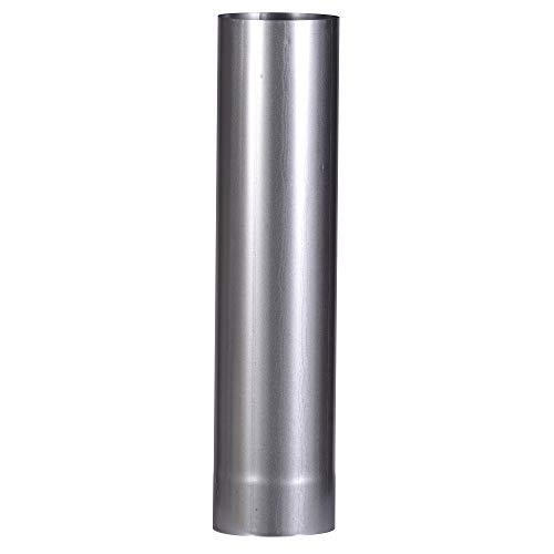 FIREFIX A120/5 FAL 500 mm, ø 120 mm-Ofenrohre aus Stahlblech, 0,6 mm stark, innenliegend gemufft, Längen lasergeschweißt, Silber