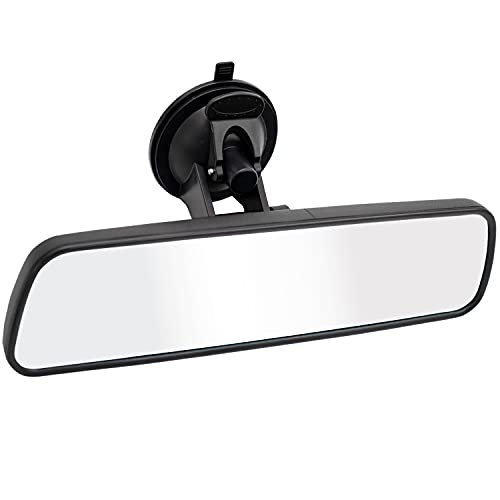 Rear View Mirror,LECAMEBOR Universal Thickened Anti-glare HD Car Interior Rear View Mirror-(With Adjustable Suction Cup)