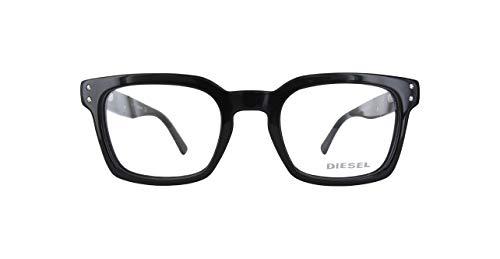 Diesel Brillengestelle DL5229-001-50 Rechteckig Brillengestelle 50, Schwarz