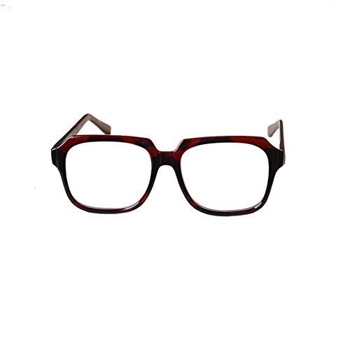 JKHOIUH Gafas de Sol Retro a Prueba de Viento de los Hombres, de Mediana Edad y de Edad Avanzada Gafas llamativas Antifatiga cómoda (Color : Clear)