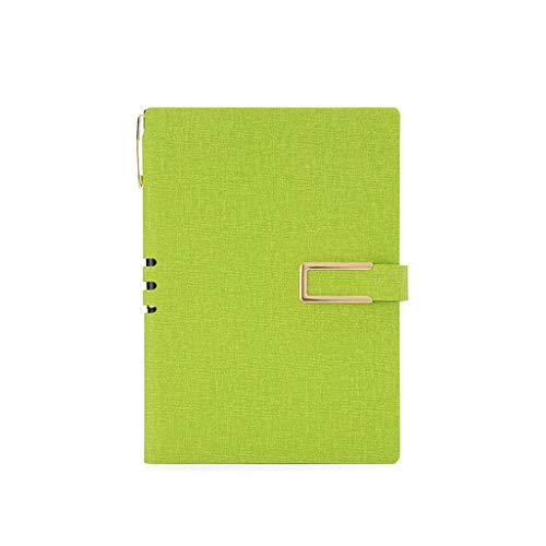 SHOTAY Vintage A5 A6 PU Cuero Diario de Negocios Cuaderno de Papel Forrado Diario planificador Bloc de Notas con Hebilla papelería Material Escolar A5Gn #