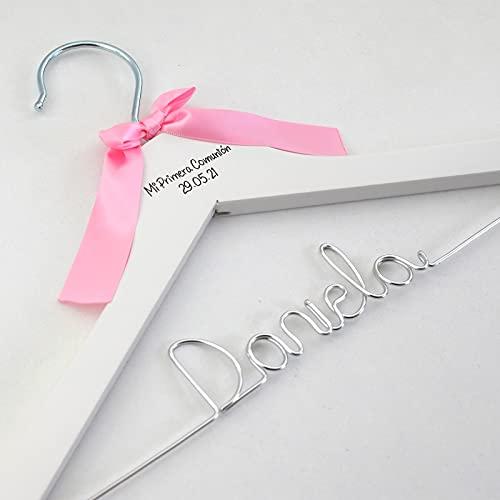 Percha personalizada comuniones con nombre regalo niña Primera Comunión