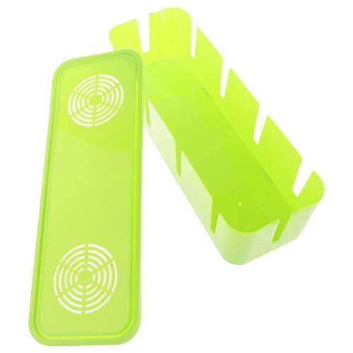 Milageto Kabelbox Kabelmanagement Wire Organizer Sockel Aufbewahrungsbox Home Office Verwendung - Grün