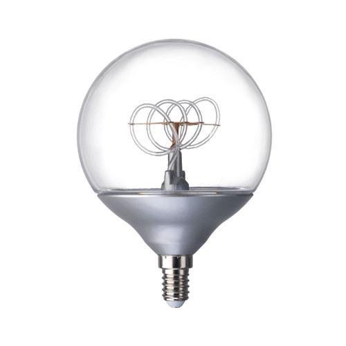 Nittio–LED Leuchtmittel, E14, kugelförmig, silberfarben