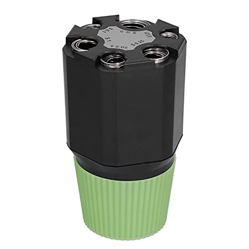 Organizador de cambio de vehículo, hucha de ABS Dólar estadounidense Diseño de dos capas de alta gama Ecológico Ligero Tamaño pequeño Negro + Verde para uso en vehículos