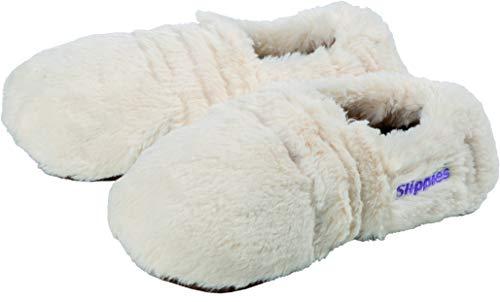 Warmies Slippies Deluxe creme Plush Schuhgröße 36-40 - herausnehmbare Füllung