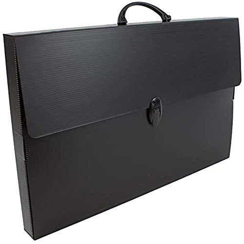 BALMAR 2000 PF14235TB Valigetta Every Line Total Black 235/E, Formato 36.5 x 56.5 x 5.5 cm in Polionda Nero con Accessori Nero