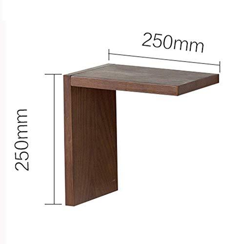 O&YQ Schwimmende Leiste Einfaches Wohnzimmer Massivholz L Form Trennwand Bücherregal Weinregalständer, 2 Farben, Holzfarbe, 25X15X25CM