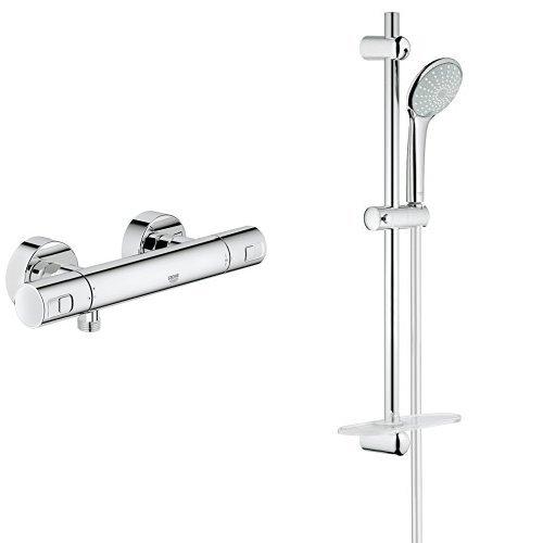 Grohe Precision Joy - Termostato de ducha visto (1/2') + Euphoria 110 Duo - Conjunto de ducha, 2 chorros