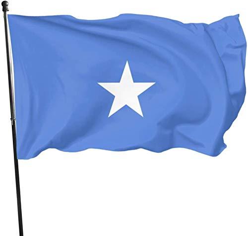 YeeATZ Somalia Flag Flag 3x5 Ft Fahnen Flagge Flag Banner Polyester Material Gartenbalkon Gartendekoration Im Freien 90x150cm xwxb