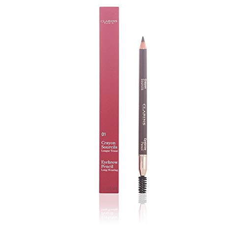 Clarins Sourcils 01, Matita per Sopraciglia, Dark Brown/ Marrone Scuro