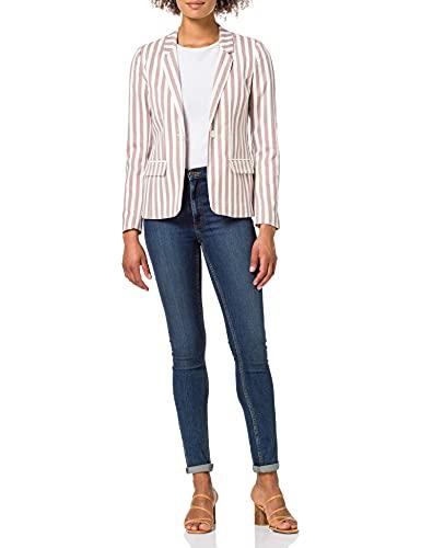 Only ONLNICO-Evette Fitted Stripe Blazer TLR, Rayas de almendras, 40 para Mujer