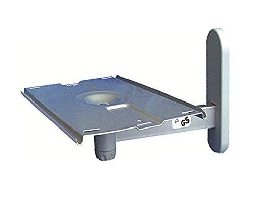 KIPPEN 10002C Braccio orientabile Multiuso per TV e Piccoli elettrodomestici, 0 V, Silver