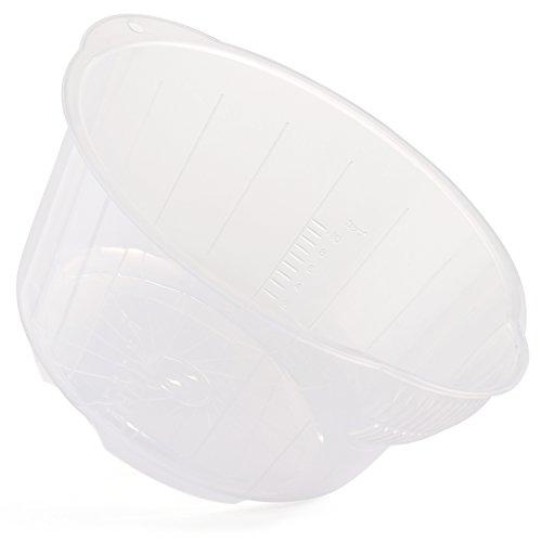 Reishunger Reis Waschschüssel (2 l / 26 cm) zum Waschen von Reis und Gemüse