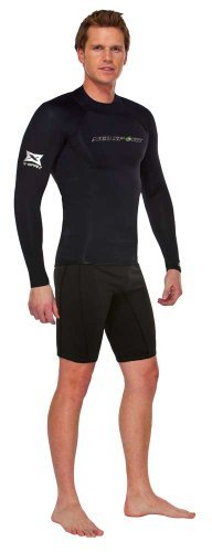 NeoSport Wetsuits Men's XSPAN Long Sleeve Shirt, Black, X-Large - Diving, Snorkeling & Wakeboarding by NeoSport