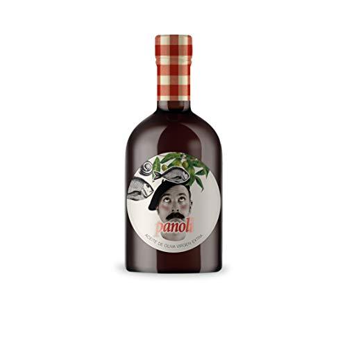 Panoli Aceite de Oliva Virgen Extra Prensado en Frío sin Filtrar de Sabor Intenso Gourmet - Botella oscura con dosificador de 500 ml.