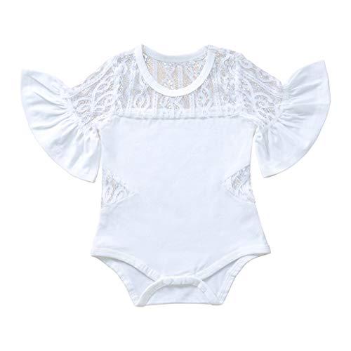 UFACE Combinaisons en Coton Bébé Filles Garçons Grenouillères Bodys à Manches Longues Outfits 0-24 Mois Cadeaux de bébé 0-3 Mois Rose Bodies Manches Longues bébé Fille Body Bébé Bio