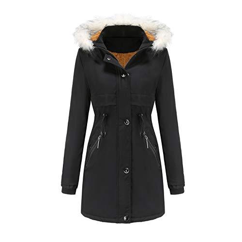 Kobay-Damen Herbst Winter Freizeit Warm Bequem Mantel Jacke Outwear Pelz gefüttert Trench Winter Hooded Dicker Mantel