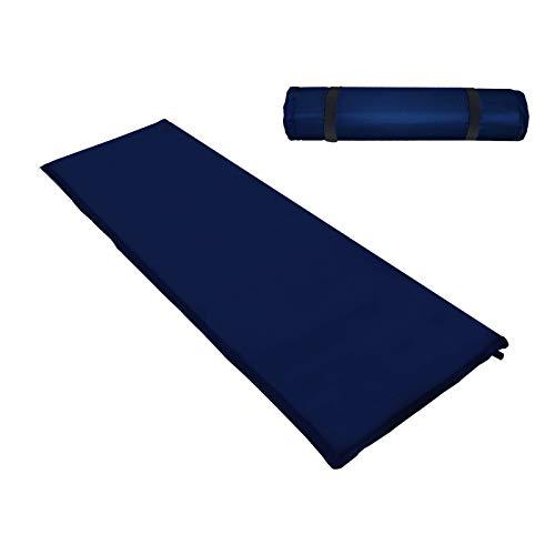 Hengda Camping Isomatte,Einzelne Schlafmatte Ultraleichte Isomatte für Outdoor,Feuchtigkeitsfes für Wandern,Backpacking,Camping,Strand(200 * 66 * 6CM Blau)