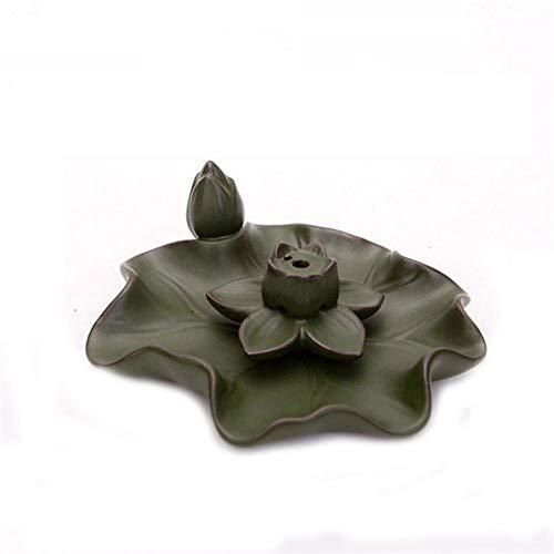 WM Home Porta-inciensos Lotus Placa Palo de Incienso Quemador de cerámica Titular de Reflujo...