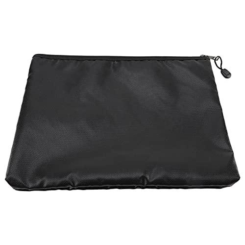 Bolsas para documentos a prueba de fuego, bolsa de seguridad a prueba de agua a prueba de fuego, sobre con cierre de cremallera para dinero en efectivo y almacenamiento de tabletas, 34 x 25 x 3,5 cm