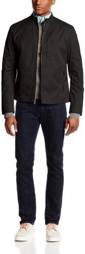 Cole Haan Men's Coated Cotton Moto Jacket