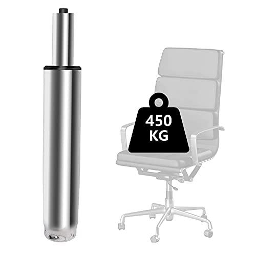 Silla de oficina con resorte de gas y repuesto de gas Lift 1000 lbs – Amortiguador de gas plateado para sillas giratorias, sillas de oficina y sillas, muelle de gas de altura regulable (plateado)