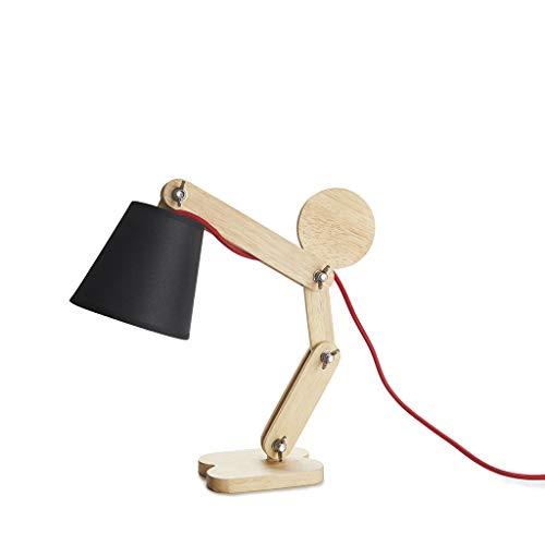 Balvi lampverlichting met scharnier, voor lampen E14 (niet meegeleverd), nylon, met kabel in mensvorm, hout