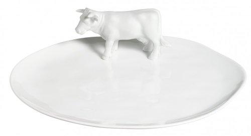 Räder Assiette à fromage en porcelaine Motif vache