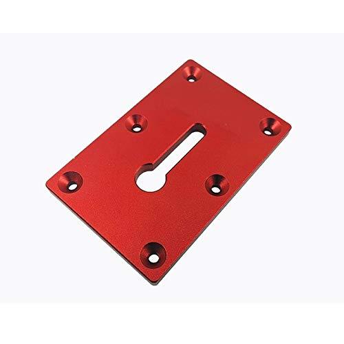 WFBD-CN Holzschnitzwerkzeuge Holzbearbeitungstischarmatur Befestigungsplatte for Klemme Installation Holzbearbeitungswerkzeug Drehwerkzeugsatz (Color : Red)