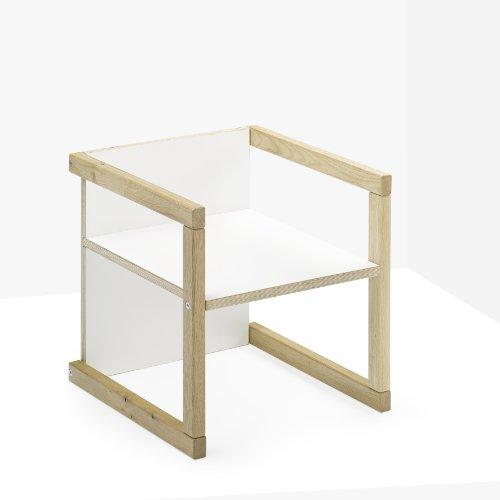 livendor Kindersitz JYNX, weiß, in 3 Sitzhöhen wendbarer Kinderstuhl, auch als Hocker und Tisch einsetzbar