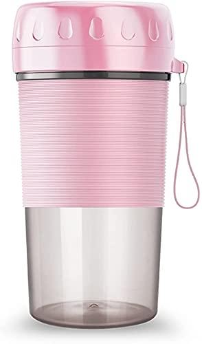 Juicer portátil, máquina de taza de smoothie recargable USB eléctrica, licuadora, Mini máquina de taza de jugo,Pink