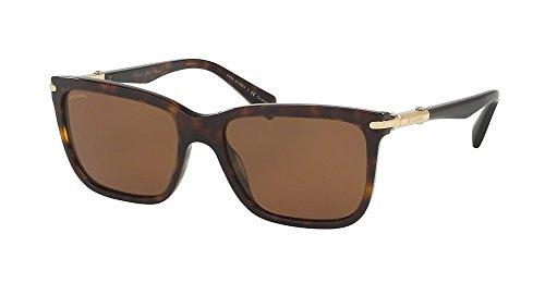 Bulgari 0BV7028K 528683 57 Gafas de sol, Marrón (Dark Havana/Polarbrown), Hombre