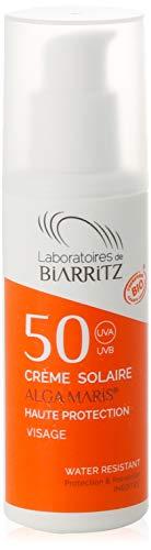 Laboratoires de Biarritz ALGA MARIS - Crema solar facial SPF50, 50 ml