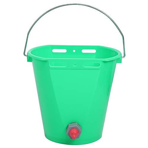 Ichiias Cubo de alimentación para terneros, Cubo de alimentación de Leche para Ganado, Cubo de Lactancia de plástico para terneros para(Single Mouth)