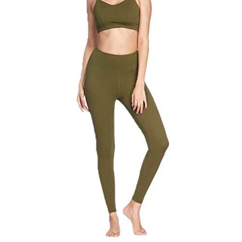 BEIXUNDIANZI Damen Leggings High Taille Yogahosen undurchsichtige Sporthosen Atmungsaktive Hüfte Pilates Fitnesshosen Lange Sportgamaschen Yogahosen