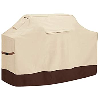 Vailge Grill Cover,58-inch Waterproof BBQ Cover,600D Heavy Duty Gas Grill Cover UV & Dust & Rip & Fading Resistant,Suitable for Weber Brinkmann Char Broil Grills and More,Beige