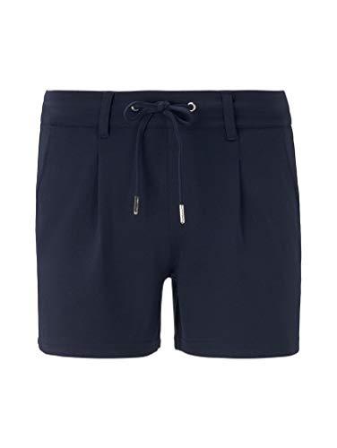 TOM TAILOR Denim Damen Freizeithose Shorts, 10360-Real Navy Blue, XXL