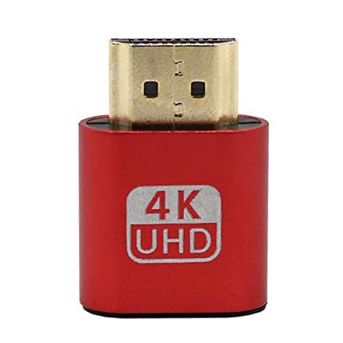 Color Yun Adaptador de Pantalla Virtual VGA Emulador de Enchufe Falso DDC EDID 1.4 Compatible con HDMI (Rosa)