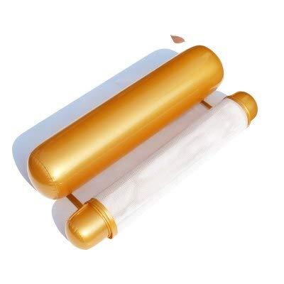 Bureze Hamac gonflable en maille pour piscine 14 couleurs