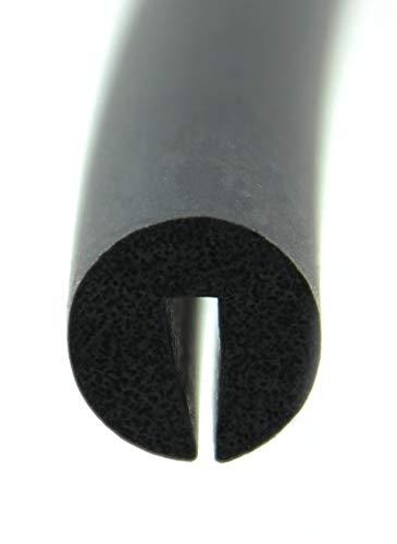 V11 - Fassungsprofil von SMI-Kantenschutzprofi aus EPDM-Zellkautschuk - Kantenschutz für Scheiben, Fenster, Blech u. v. m. - einfache Montage - Maße: 10x10 mm - Fassungsbereich 2 mm (3 m)