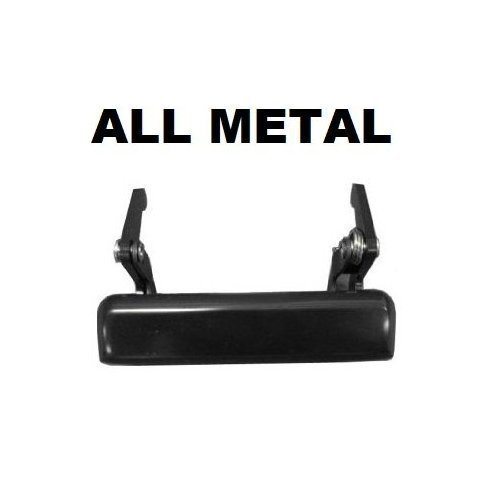 ALL METAL Smooth Black Tailgate Door Handle for MAZDA PICKUP (1994-2009); Rear Outside Tailgate