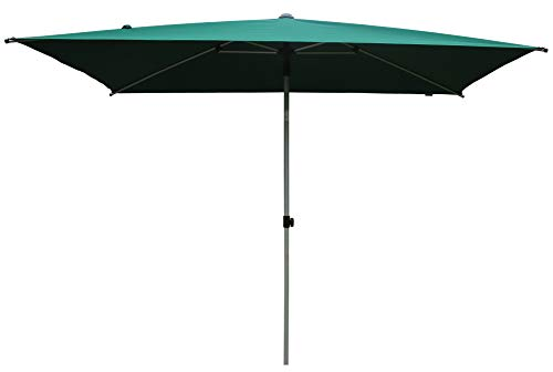 SORARA Porto Parasol de Jardin Exterieur | Vert | 300 x 200 cm (3 x 2 m) | Rectangulaire | Mécanisme Push-up (Pied excl.)