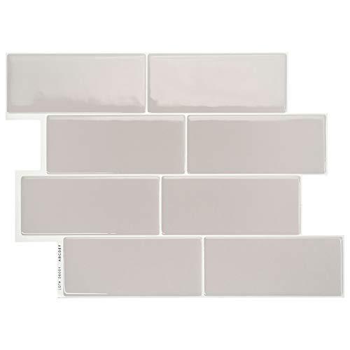 Smart Tiles, Azulejos Adhesivos para Pared - Metro Cassandra - Paquete de 6