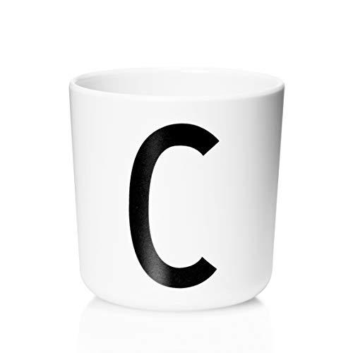 Design Letters - Melamin Becher - Buchstabe: C - Multifunktionsbecher - Arne Jacobsen