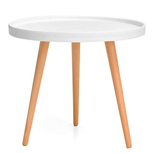 Tables basses Petite Table Occasionnelle Ronde en Bois Massif Mini Table Salon Petite familiale Petite Table Ronde, scène Sauvage